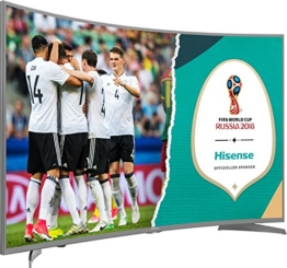 Hisense H55NEC6500 138 cm (55 Zoll) Curved Fernseher (Ultra HD, HDR10, Triple Tuner, Smart TV) - 1