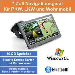 """17,8cm 7"""" Zoll,16GB Speicher, PKW,LKW,Wohnmobil,GPS Navigationsgerät,Navigation, Neuste Karten sowie Radarwarner , Erweiterbarer Speicher, Fahrspurassistent, Geschwindigkeitsanzeige - 1"""