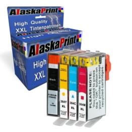 4x Druckerpatronen kompatibel mit hp 364 xl HP 364xl Multipack mit HP Photosmart C6388 C5380 C5388 C5390 C5393 C6324 C6375 C6380 C6383 D5468 D5445 D7560 B010 D5460 D5463 B110a B110c B111a B109b B109c B109d Drucker Tinte Patronen mit Chip und Füllstandsanzeige - 1