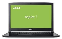 Acer Aspire 7 (A717-71G-556S) 43,9cm (17,3 Zoll, Full-HD, IPS, matt) Multimedia Notebook (Intel Core i5-7300HQ, 8GB RAM, 256GB PCIe SSD, NVIDIA GeForce GTX 1050 (2GB VRAM), Win 10, USB 3.1) schwarz - 1