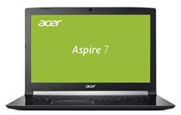 Acer Aspire 7 (A717-71G-70Z6) 43,9 cm (17,3 Zoll Full-HD IPS matt) Gaming Notebook (Intel Core i7-7700HQ, 16GB RAM, 256GB SSD + 1.000GB HDD, GeForce GTX 1060 6GB GDDR5 VRAM, Win 10) schwarz - 1