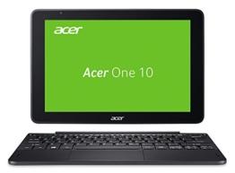 Acer One 10 (S1003-15RV) 25,65 cm (10,1 Zoll, HD, IPS, Multi-Touch) 2-in-1 Notebook (Intel Atom x5-Z8350, 4GB RAM, 64GB eMMC, SD Kartenleser, Win 10) schwarz - 1