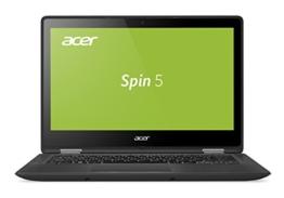 Acer Spin 5 SP513-51-51D9 33,8 cm (13,3 Zoll Full-HD IPS) Convertible Notebook (Intel Core i5-7200U, 8GB RAM, 256GB SSD, Intel HD, Win 10) schwarz - 1