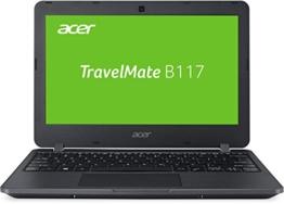 Acer TravelMate B117 (B117-M-P4VH) 29,5 cm (11,6 Zoll) HD Notebook (Intel Pentium N3710, 4 GB RAM, 128 GB SSD, Intel HD Graphics, Win 10 Home) schwarz - 1
