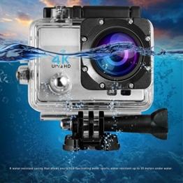 Action Kamera,LESHP 4K Wifi Aktion Cam Wasserdichte Kamera Helmkamera Full HD 1080P 170 Grad Weitwinkel Action Digitalkamera with 2,0 Zoll LCD Bildschirm Kamera Wasserdicht Unterwasserkamera Cybershot Kameras - 1