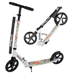 Apollo Big Wheel Scooter 200 mm - Phantom Pro ist ein Luxus City Scooter, City-Roller klappbar und höhenverstellbar, Kickscooter für Erwachsene und Kinder - 1
