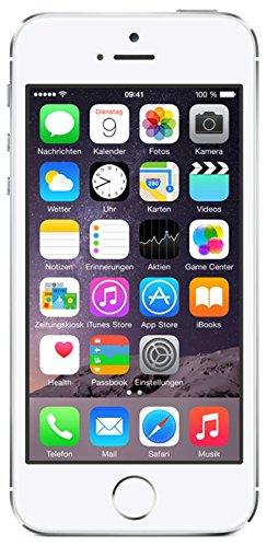 Apple iPhone 5S Smartphone 16GB (10,2 cm (4 Zoll) IPS Retina-Touchscreen, 8 Megapixel Kamera, iOS 7) Silber - 1