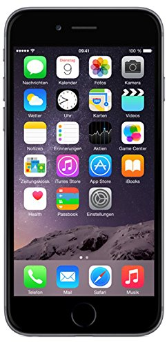 Apple iPhone 6 Smartphone (4,7 Zoll (11,9 cm) Touch-Display, 16 GB Speicher, iOS 8) grau - 1