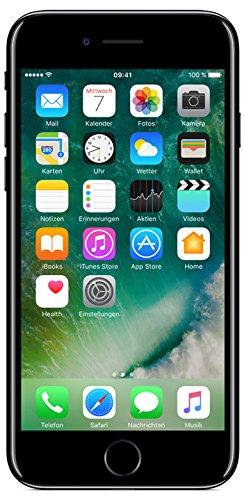 Apple iPhone 7 Smartphone (11,9 cm (4,7 Zoll), 128GB interner Speicher, iOS 10) jet schwarz - 1