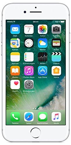 Apple iPhone 7 Smartphone (11,9 cm (4,7 Zoll), 128GB interner Speicher, iOS 10) silber - 1