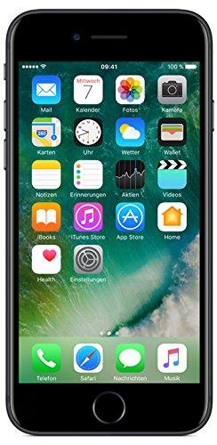 Apple iPhone 7 Smartphone (11,9 cm (4,7 Zoll), 32GB interner Speicher, iOS 10) matt-schwarz - 1
