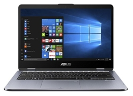 Asus VivoBook Flip 14 TP410UA-EC242T 35,5 cm (14 Zoll FHD Touch) Convertible Notebook (Intel Core i5-7200U, 8GB RAM, 256GB SSD, Intel HD Graphics, Win 10 Home) grau - 1