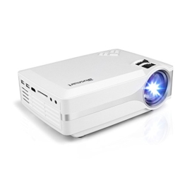 Beamer, Blusmart LED-9400 Mini Tragbarer Heimbeamer / Videoprojektor TV Beamer 1080P Full HD für Video TV Filme Partys Spieleabende Heimkino Home Entertainment mit PC USB/SD/AV/HDMI/VGA Eingang - 1