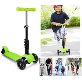 Beautytalk Kinder Scooter Tretroller Kinderroller 3 Räder Mini Kinderscooter mit Abnehmbarem Sitz und Verstellbare Lenker für Jungen Mädchen ab 3 Jahre (DE Lager) - 1