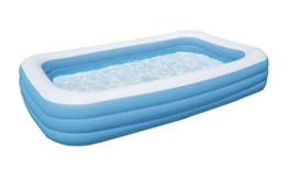 Bestway Family Pool Blue Rectangular Deluxe, 305x183x56 cm - 1