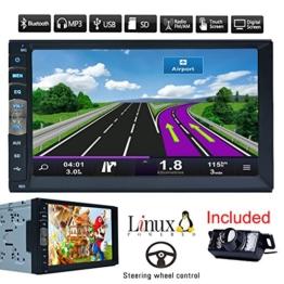 Bluetooth Auto-GPS-Navigation MP5 Spieler des Lärms 2 7-Zoll-Touch-Screen-Auto-Radio Stereo-Receiver Fahrzeug-Multimedia-PC-Systeme No-DVD mit HD-Rückseiten-Kamera - 1