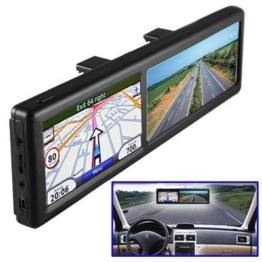 BW 4.3 Zoll-hinterer Ansicht-Spiegel mit GPS-Navigation, Auto Bluetooth freihändige benennende 4GB eingebaute Europa-Karten - 1