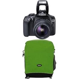 Canon 1160C026 EOS 1300D Digitale Spiegelreflexkamera (18 Megapixel, APS-C CMOS-Sensor, WLAN mit NFC, Full-HD) Kit inkl. EF-S 18-55mm IS Objektiv+Rollei Traveler Fotorucksack Canyon M Green - 1