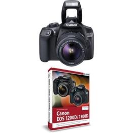 Canon EOS 1300D Digitale Spiegelreflexkamera Kit inkl. EF-S 18-55mm IS Objektiv schwarz + Canon EOS 1200D / 1300D Handbuch - 1