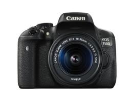 Canon EOS 750D SLR-Digitalkamera (24 Megapixel, APS-C CMOS-Sensor, WiFi, NFC, Full-HD, Kit inkl. EF-S 18-55 mm IS STM Objektiv) schwarz - 1