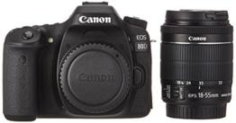 Canon EOS 80D EF-S 18-55 IS STM Spiegelreflexkamera schwarz - 1