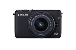 Canon EOS M10 Systemkamera (18 Megapixel, 7,5 cm (3 Zoll) Display, STM, WLAN, NFC, 1080p, Full HD) Kit mit EF-M 15-45mm IS schwarz - 1