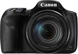 Canon PowerShot SX540 HS Digitalkamera (20,3 Megapixel CMOS-Sensor, 50-fach Ultrazoom, 100-fach ZoomPlus, WiFi, Full HD) schwarz - 1