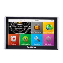CARRVAS 7 Zoll Europe Traffic GPS Navi Navigationsgerät mit kostenlosen lebenslangen Kartenupdates für ganz Europa für LKW KFZ TAXI Fahrspurassistent Sprachführung Blitzerwarnungen 8GB - 1