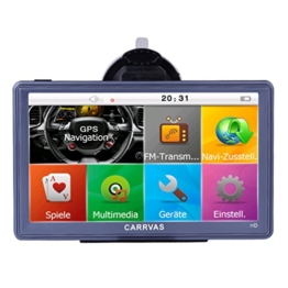 CARRVAS HD Sat NAV 7 Zoll Europe Traffic GPS Navi Navigationsgerät für KFZ LKW TAXI Europäische Karten installiert 8GB 1600mAh - 1