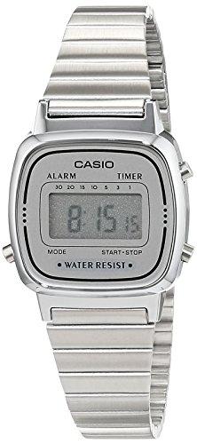Casio Damen Digital mit Edelstahl Armbanduhr LA670WEA 7EF - 1