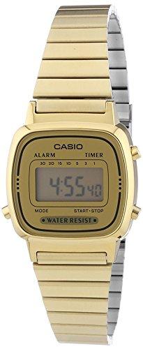 Casio Damen Digital mit Edelstahl Armbanduhr LA670WEGA 9EF - 1
