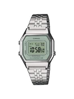 Casio Damen Digital mit Edelstahl Armbanduhr LA680WEA 7EF - 1