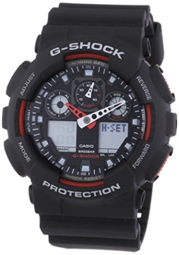 Casio G Shock Herren Analog/Digital Quarz mit Resin Armbanduhr GA 100 1A4ER - 1