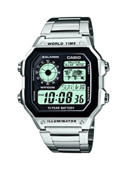 Casio Herren Digital mit Edelstahl Armbanduhr AE 1200WHD 1AVEF - 1