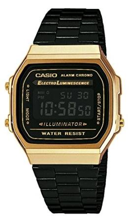Casio Unisex Digital mit Edelstahl Armbanduhr A168WEGB1BEF - 1
