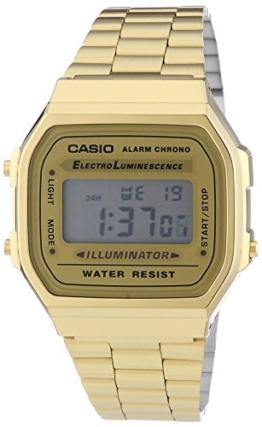 Casio Unisex Digital mit Edelstahl Armbanduhr A168WG 9EF - 1