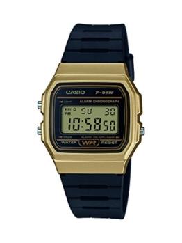 Casio Unisex-Uhr Digital mit Resinarmband F-91WM-9AEF - 1