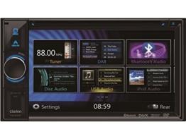 Clarion Navigation Auto Radio 2 DIN DVD USB HDMI mit Bluetooth passend für Seat Leon 1P 1PN 09/2005-03/2009 incl Einbauset CanBus - 1
