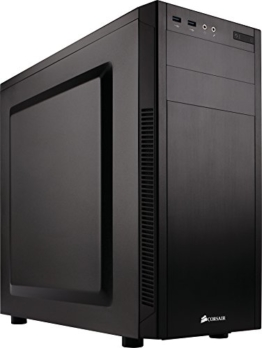 Corsair CC-9011077-WW Carbide Series 100R Silent Mid-Tower ATX Computer Gehäuse, Schwarz - 1