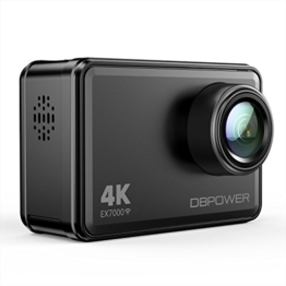 "DBPOWER EX7000 Action Kamera 4K Sports Cam Panasonic Sensor 14MP 2"" Touchscreen Unterwasserkamera Helmkamera wasserdicht 170 Ultra-Weitwinkel mit 2 Batterien und Zubehör Kits - 1"