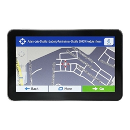 Deyuan GPS Navigation,Europe Traffic Navigationsgerät (,Free Lifetime Maps,17cm (7 Zoll) Display,LKW,PKW,Sprachführung,Bluetooth,AV-IIN,FM,Built-in 8GB Speicher) schwarz - 1
