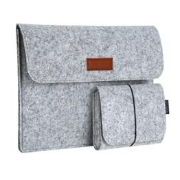 "dodocool 13,3 Zoll Filz Sleeve Hülle Ultrabook Laptop Tasche für 13"" Macbook Air/ Pro Retina 12,9 Zoll iPad Pro, Grau - 1"