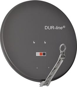 "DUR-line SELECT 75cm Anthrazit - 3 x Test ""Sehr gut"" - Aluminium Satellitenschüssel Parabolantenne - 1"
