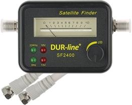 DUR-line® SF 2400 - Satfinder - Messgerät zur exakten Justierung Ihrer Digitalen Satelliten-Antenne - mit hoher Eingangsempfindlichkeit - inkl. F-Kabel - 1