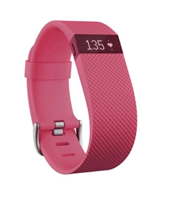 Fitbit Charge HR Fitness and Sleep Tracker - Pink, Small - 1