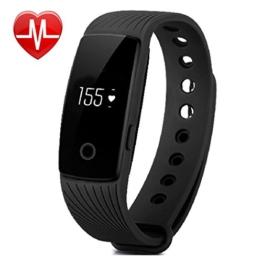 Fitness Tracker, AsiaLONG Fitness Armband mit Pulsmesser Herzfrequenz Aktivitätstracker Fitness uhr Pulsuhren Bluetooth Smart Armband Schrittzähler für iOS und Android Handys - 1