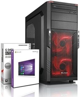 Gaming / Multimedia COMPUTER mit 3 Jahren Garantie! | Quad-Core! AMD A10-7850K 4 x 4000 MHz | 16GB DDR3 | 2000GB S-ATA II HDD | AMD Radeon R7000 4096 MB DVI/VGA mit DirectX11 Technology | USB3.0 | 22x DVD±R/RW | 6 USB-Anschlüsse | Windows10 Professional 64 #5371 - 1