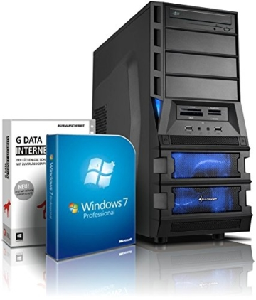 Gaming / Multimedia COMPUTER mit 3 Jahren Garantie!   Quad-Core! AMD A10-7850K 4 x 4000 MHz   8192MB DDR3   500GB S-ATA II HDD   AMD Radeon R7000 4096 MB DVI/VGA mit DirectX11 Technology   USB3   FM2+ Mainboard   22x DVD±RW   WiFi   All-In One Card-Reader   7xUSB   MS Office 2010 Starter   Windows7 Prof 64 #5493 - 1