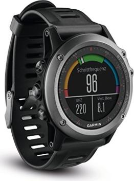 Garmin fenix 3 GPS-Multisportuhr, Smartwatch-, Navigations- und Sportfunktionen, GPS/GLONASS, 1,2 Zoll (3cm) Farbdisplay - 1