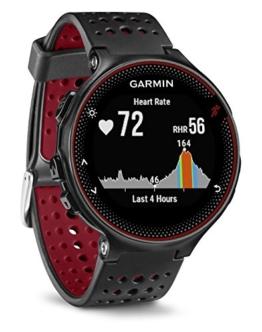 Garmin Forerunner 235 Schwarz und Marsala-Rot - GPS-Laufuhr mit Herzfrequenzmessung am Handgelenk, 010-03717-71 - 1